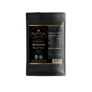 CBD Gummies from Naysa - 50 mg per Gummy Candy - 6 Count